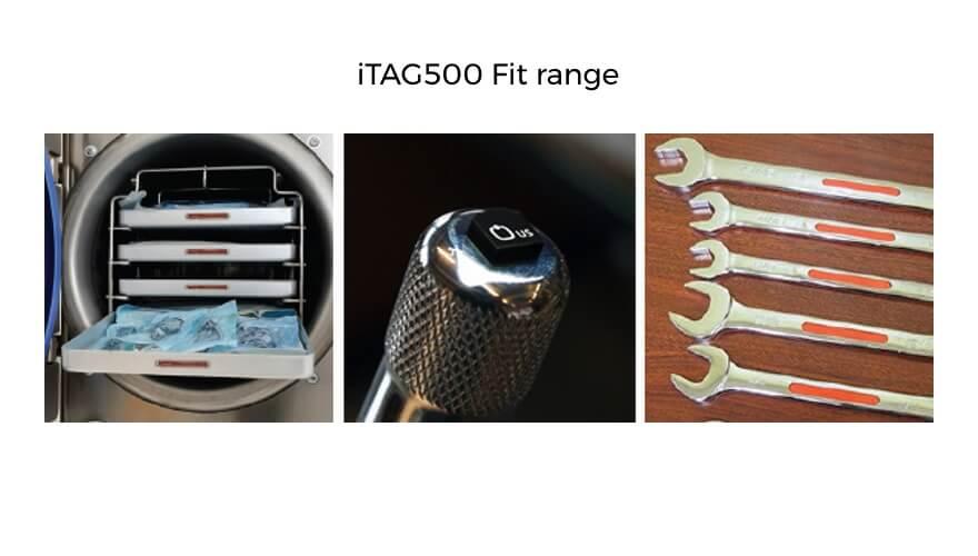 Extronics TAG500 passive RFID tags: Fit range