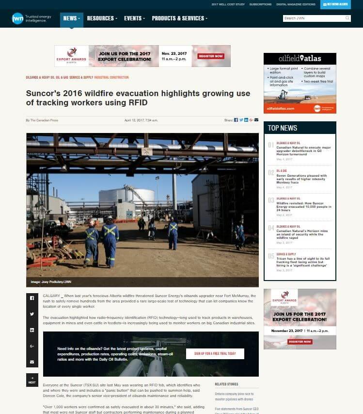 JWN Energy Suncor evacuation article