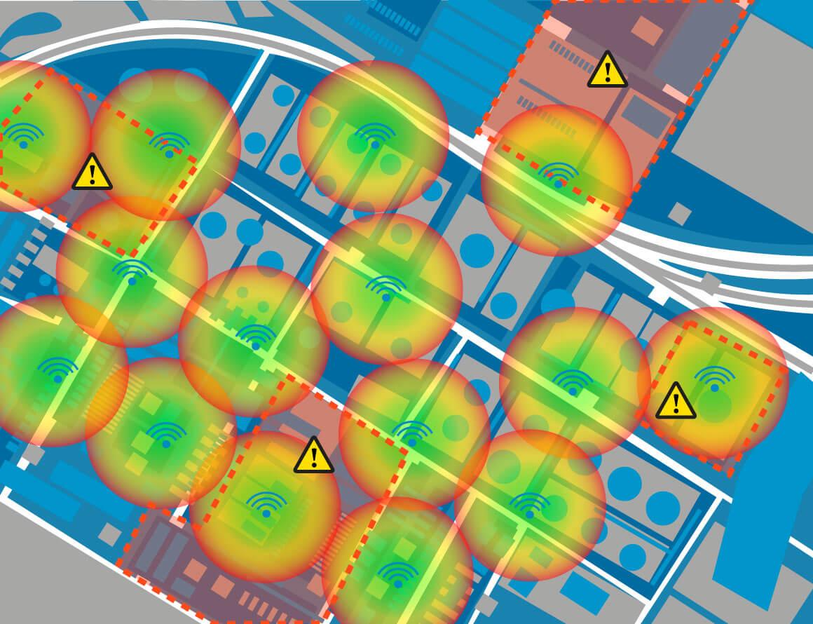 wireless hazardous area heat map