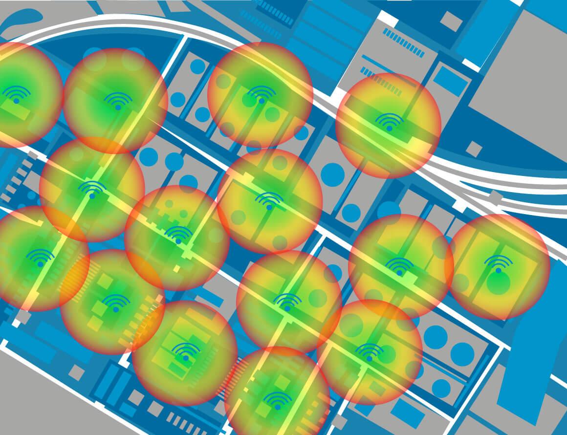 wireless site survey map